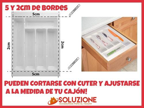 cubiertero organizador plastico cajon cocina 35x47 hogar