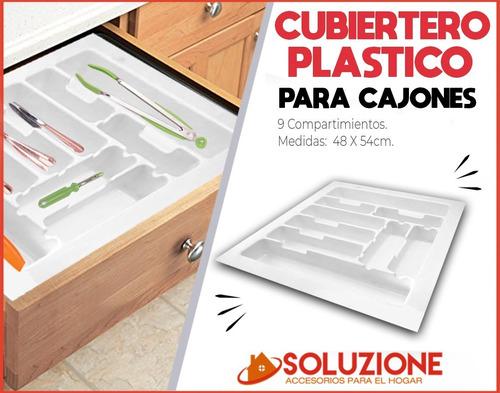 cubiertero organizador plastico cocina hogar casa 54x48 cm