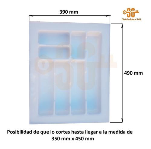 cubiertero organizador plastico reforzado 39x49 cm cajón