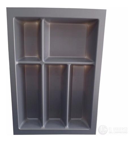 cubiertero porta cubiertos gris alemán 33,6x48cm