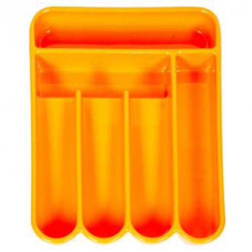 cubiertero rectangular 6 compartimientos-naranja