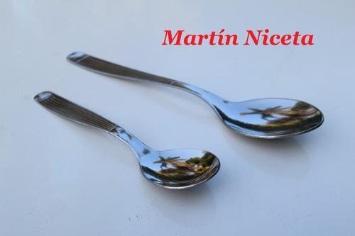 cubierto de acero inoxidable cuchillo tenedor cuchara x12