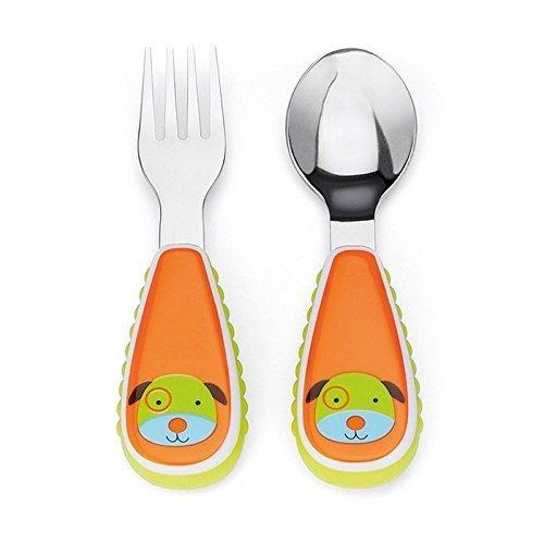 cubiertos cuchara y tenedor para bebe motivo perro