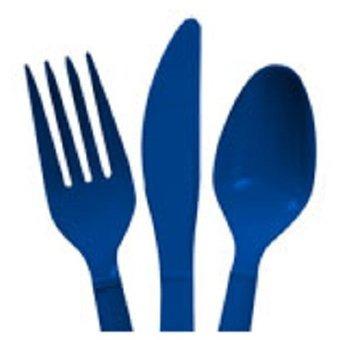cubiertos para 16 puestos (48 piezas) - azul celeste