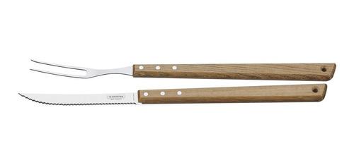 cubiertos tramontina asado 2 piezas tenedor cuchillo