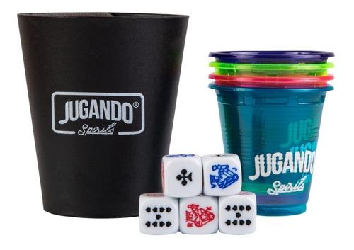 cubilete jugando spirits- juego de shots para tequila
