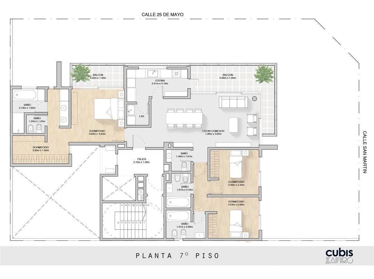 cubis zafiro quilmes centro  - departamento piso de 4 amb c/ cochera - financiación