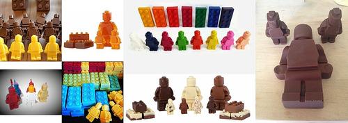 cubito de hielo de silicona para lego gummies soap crayon