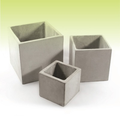 Cubo 10 - Macetas De Fibrocemento - Cemento Ref. - $ 70,78 en ...