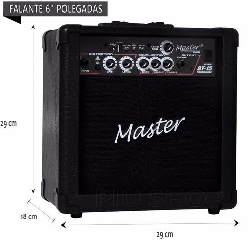 cubo amplificador caixa guitarra usb 15w loja novo modelo
