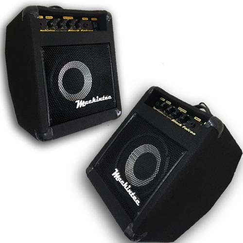 cubo amplificador contra baixo mackintec impact bass black