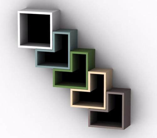 Cubo biblioteca decorativa modular moderna minimalista for Minimal art vzla