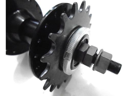 cubo bike fixa traseiro alumínio com rolamento 36 furos.