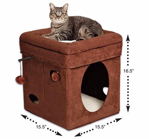 cubo casa juegos escondite mascotas pequeñas plegable
