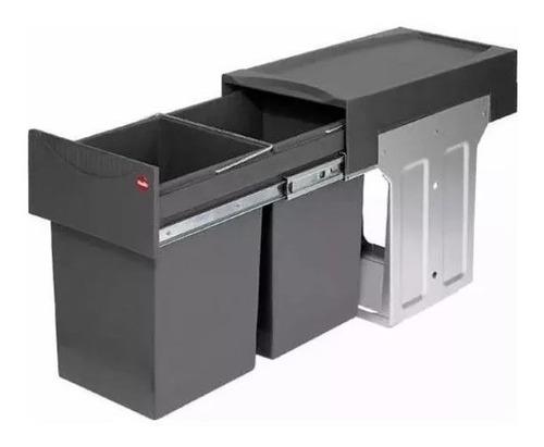 cubo cesto residuos doble 2 x15 l cod.hafele 502.70.252 extr