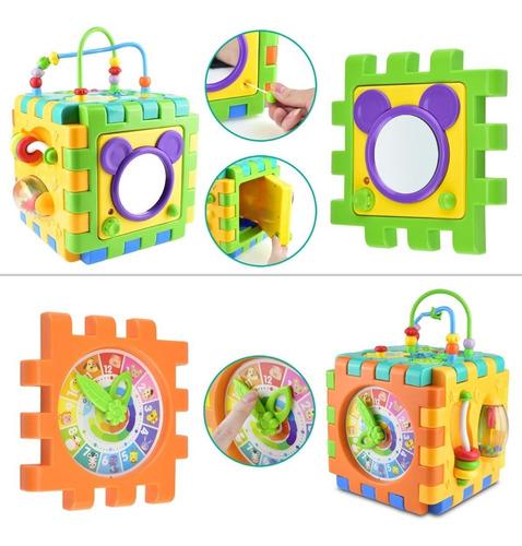 cubo chico de actividades 6 en 1 juguete educativo act 3850