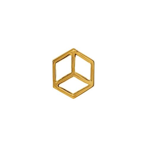 cubo con cadena en chapa de oro 22 kilates