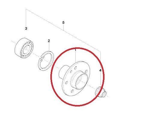 cubo da roda traseira bmw 540i 2005 a 2007 original