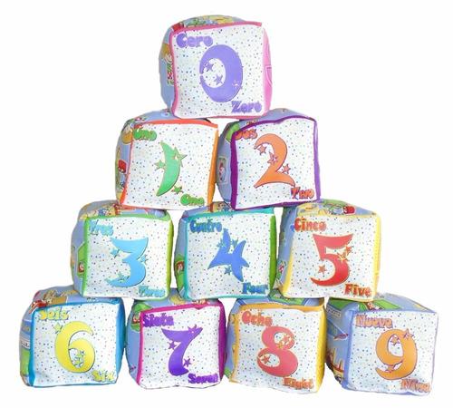 cubo dado de tela letra n para bebé estimulante y divertido