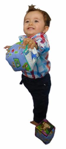 cubo dado de tela para bebé lúdico y didáctico estimulante