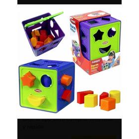 Cubo De Formas Colores Y Texturas Playskool Hasbro Juguete B