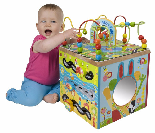 cubo de madera maxville juguetes bebes niños envió gratis