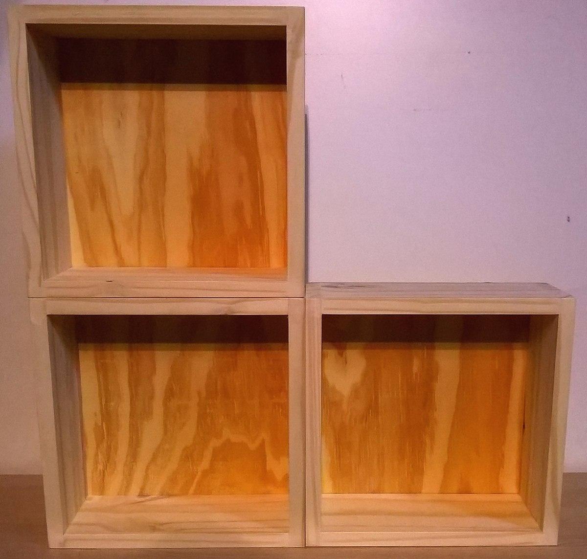 Estanteria fondo 20 cm free libreria xx cm madera y metal - Cubos de madera ...