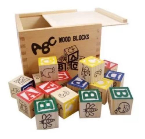 cubo de madera x 27 cubitos