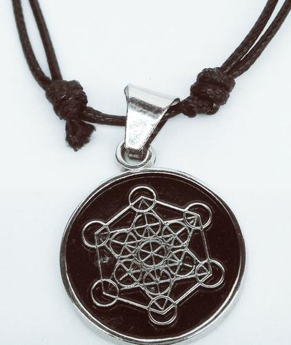 cubo de metatron metal niquel se regala cromo bolsa y cordón