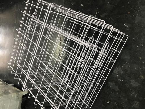 cubo de reja malla apilable exhibidor organizador