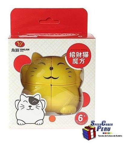 cubo de rubik (cubo mágico) 2x2x2 yj lucky cat - gato