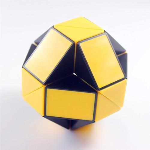cubo de rubik shengshou snake amarillo con negro