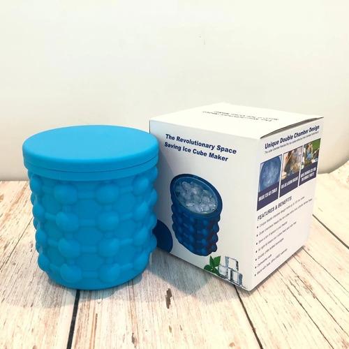 cubo de silicon con tapa para crear hielo, bebidas frías