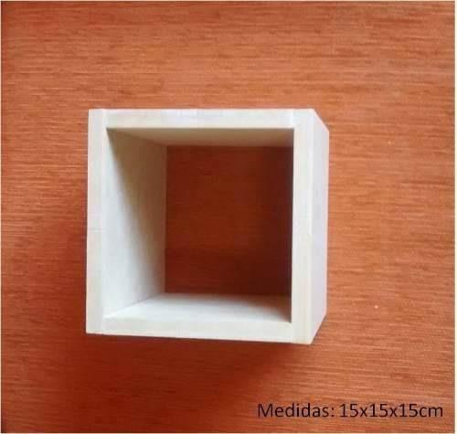 cubo decorativo repisa flotante minimalista 15x15x15cm