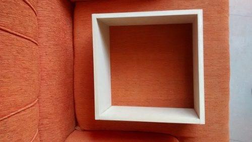 cubo decorativo repisa flotante minimalista 30x30x15cm