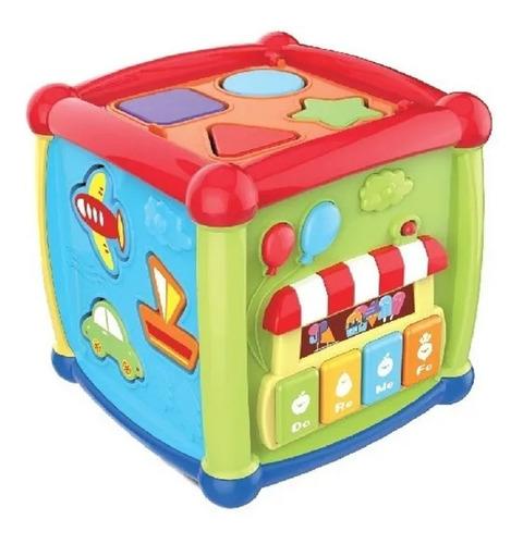 cubo didactico bebe piano musica encastre reloj babymovil