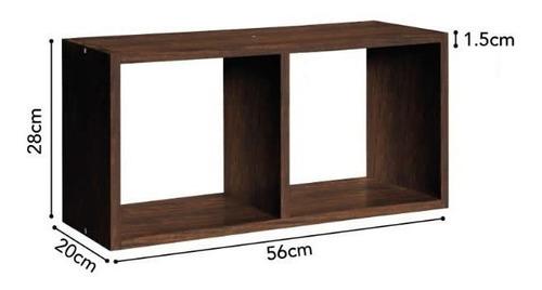 cubo doble de madera prat-k mdp 56x28x20 cms tabaco mf shop