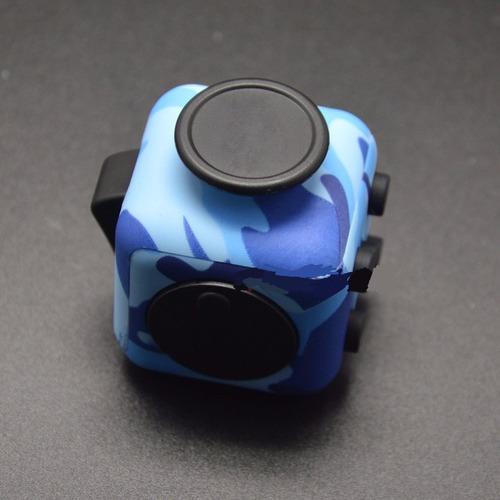 cubo fidget azul anti estres para adulto y niños