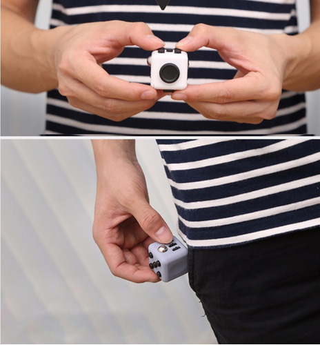 cubo fidget spinner alivia el estrés ansiedad, relaja.