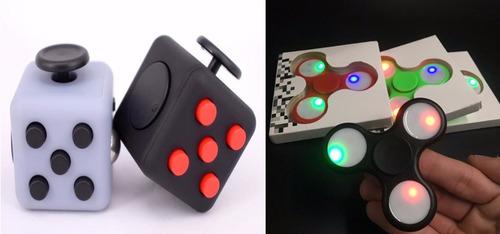 cubo fidget spinner alivia el estrés ansiedad +spinner luces