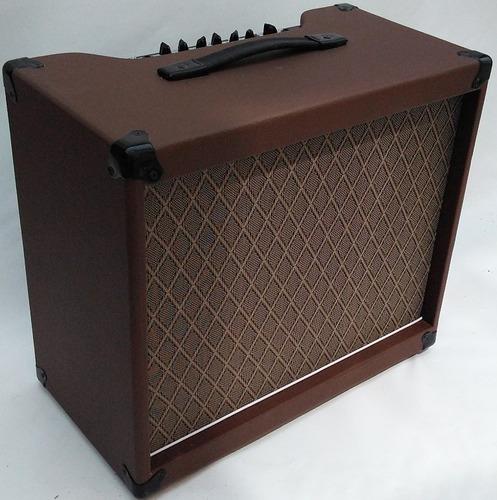 cubo guitarra 60w rms 12 pol. marrom driver/reverb jaovox