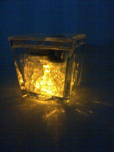 cubo hielo led luminoso carnaval publicidad