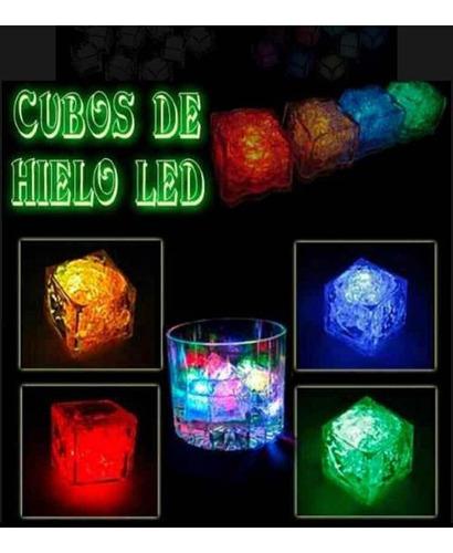 cubo hielo led luminoso carnaval publicidad recordatorio