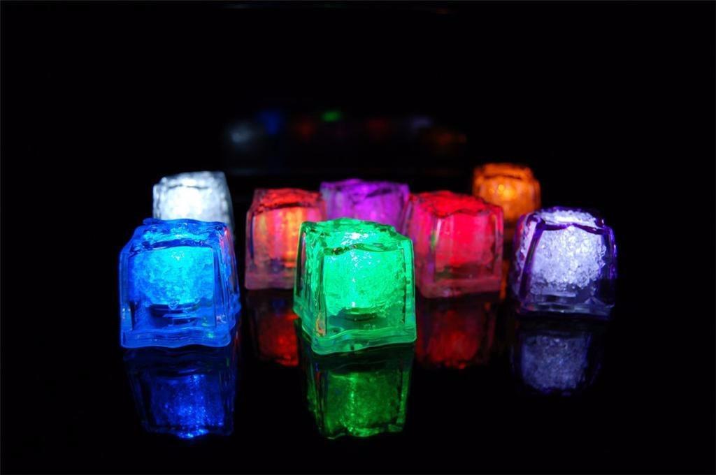 Cubo Hielo Led Rgb Sumergible Luminoso Antro Bar Fiesta