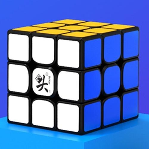 cubo mágico 3x3x3 dayan guhong v3 m magnético preto