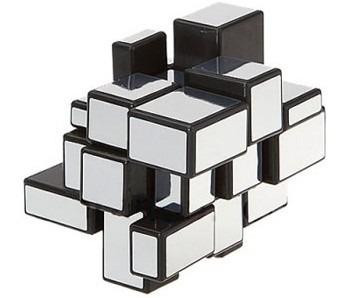 cubo mágico 3x3x3 mirror blocks shengshou prata em estoque