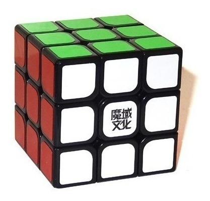 cubo mágico 3x3x3 moyu aolong v2 preto profissional
