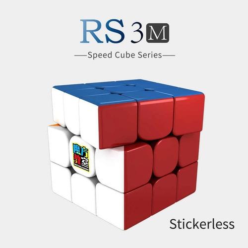 cubo mágico 3x3x3 moyu mf3 rs3 m magnético colorido
