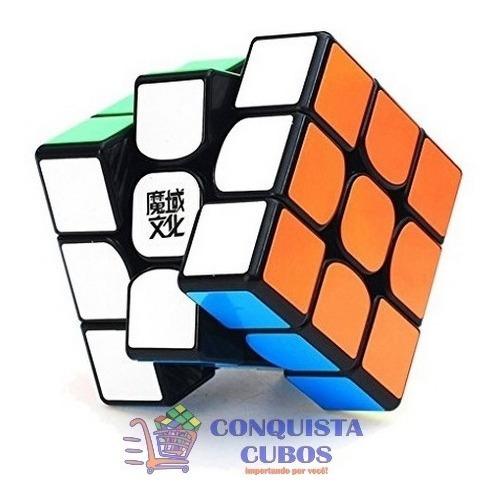 cubo mágico 3x3x3 moyu weilong gts 2 m magnético preto