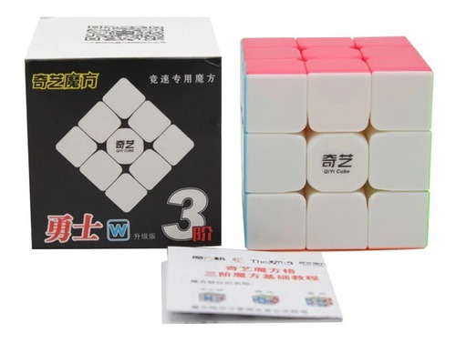 cubo mágico 3x3x3 profissional qiyi warrior w colorido